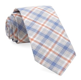 Coral Anthem Plaid ties