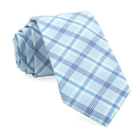 Aqua Anthem Plaid ties
