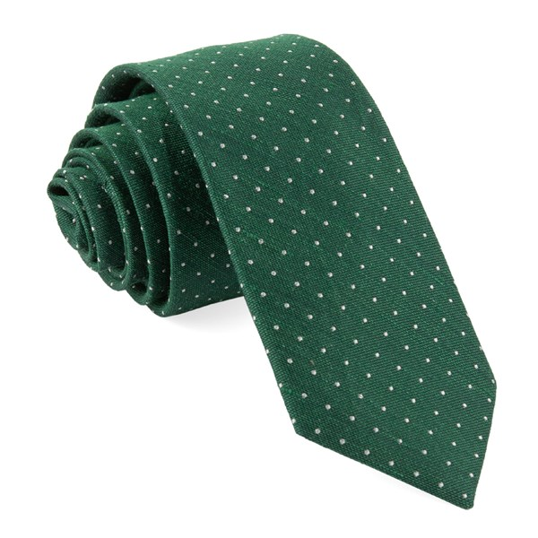 Hunter Green Bhldn Destination Dots Tie