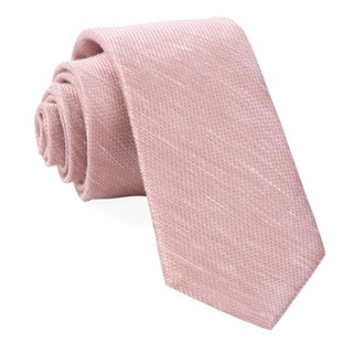 Bhldn Jet Set Solid Rose Quartz Tie
