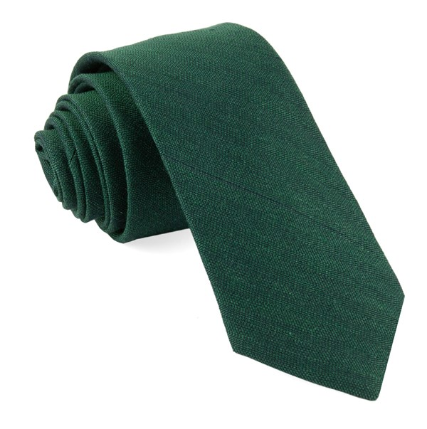 Bhldn Linen Row Hunter Green Tie