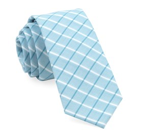 Teal BROOKLINE PLAID ties