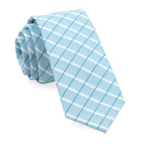 brookline plaid teal ties