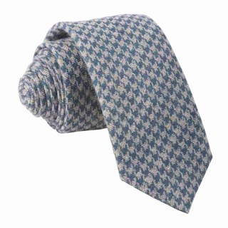 brushed cotton houndstooth navy ties