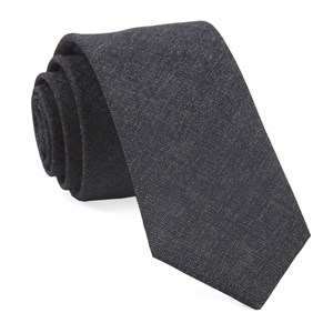 coaltown solid charcoal ties