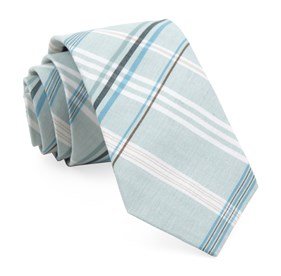 Washed Spearmint Dawson Plaid ties