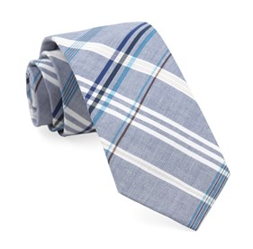 Washed Navy Dawson Plaid ties