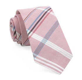Washed Red Dawson Plaid ties