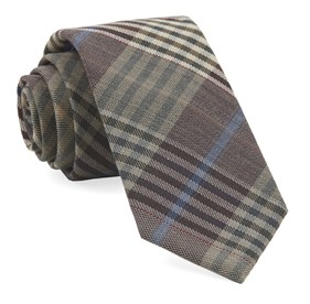 Camel Dundee Plaid ties