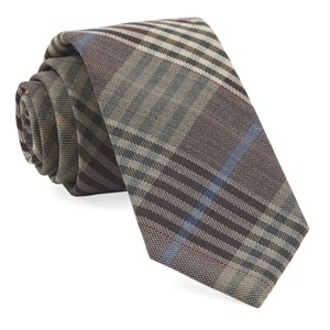 dundee plaid camel ties