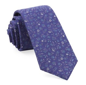 Purple Floral Acres ties