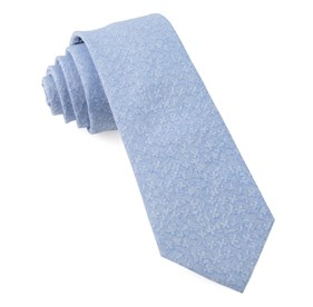 Light Blue Floral Dip ties