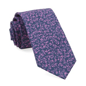 floral webb navy ties
