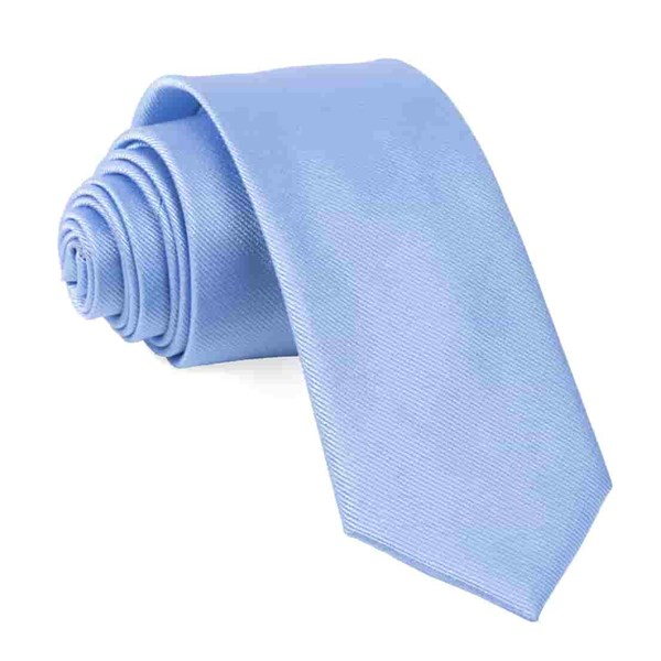 Light Blue Grosgrain Solid Tie