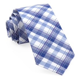 Navy Harborside Plaid ties