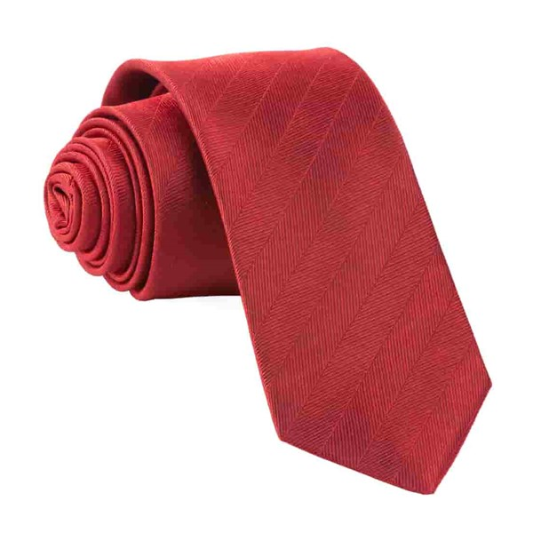 Red Herringbone Vow Tie