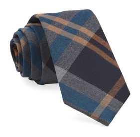Teal Highland Plaid ties