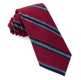 Red Hutton Stripe ties