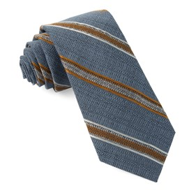 Steel Blue Hutton Stripe ties