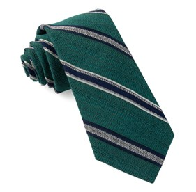 Teal Hutton Stripe ties