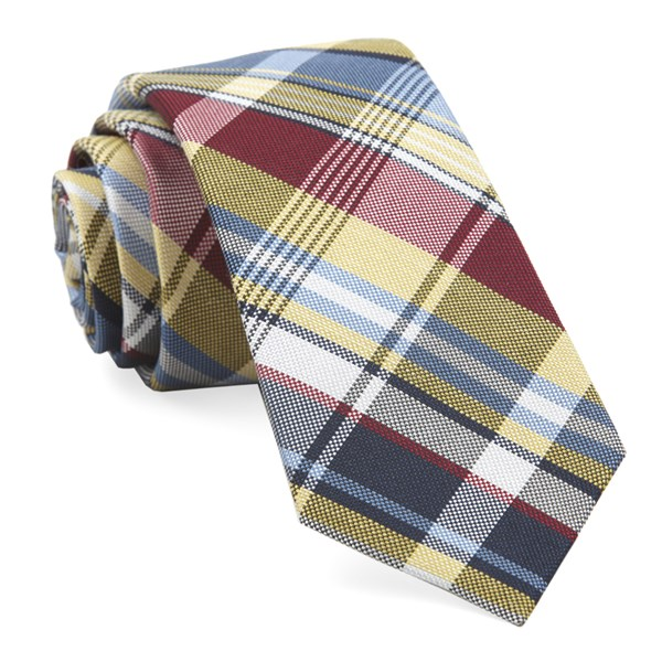 Yellow Jarrett Plaid Tie