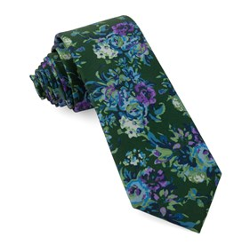Hunter Green Jessi Floral ties