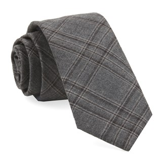 Johnstone Plaid Grey Tie