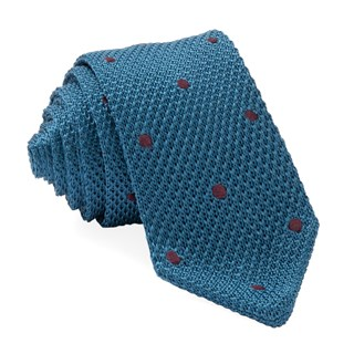 pointed tip knit polkas teal ties
