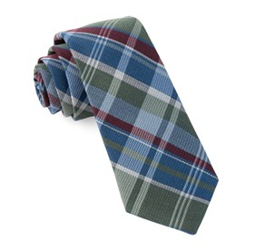 Blue Latham Plaid ties