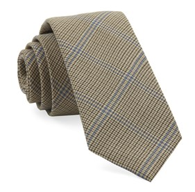 Camel Linwood Plaid ties