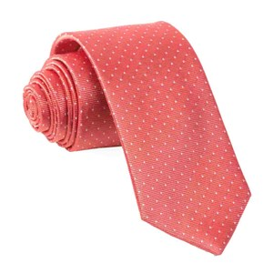 mini dots coral ties