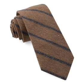 Brown North Border Stripe ties