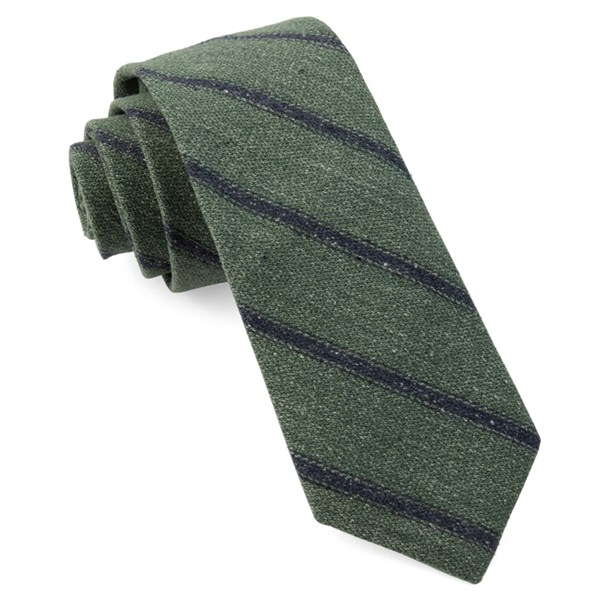 Hunter Green North Border Stripe Tie