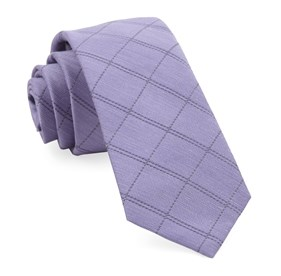 Lavender Plaid Stat ties