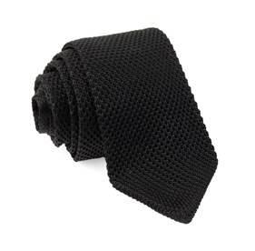 Black Pointed Tip Knit ties