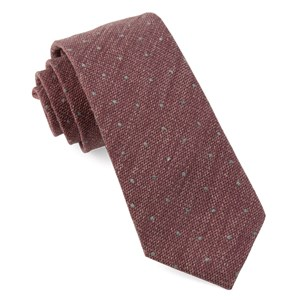 redwood dot raspberry ties