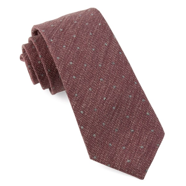 Raspberry Redwood Dot Tie