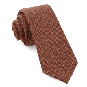 redwood dot burnt orange ties