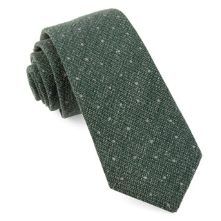 redwood dot hunter green ties