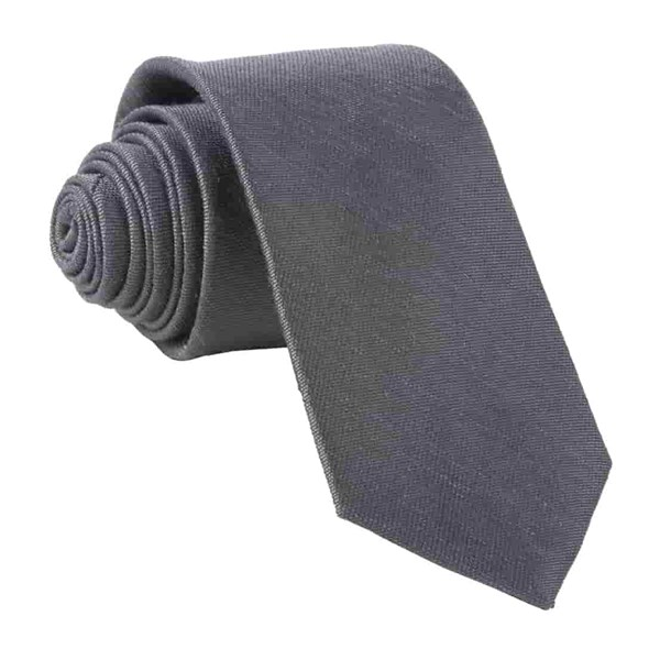 Charcoal Sand Wash Solid Tie