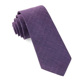 Purple Smith Solid ties
