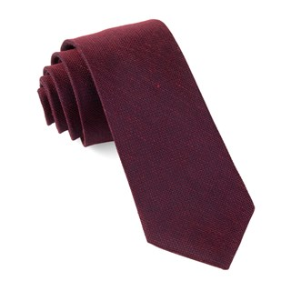 Smith Solid Wine Tie