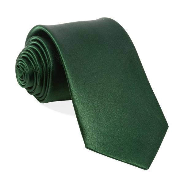 Solid Satin Hunter Tie