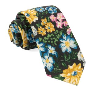 leading man floral brown ties