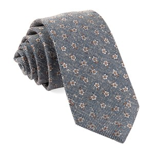 retro flowers light blue ties