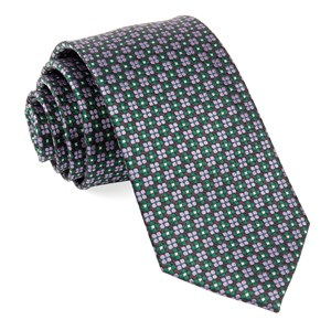 sartorial geo hunter green ties