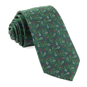holiday string lights hunter green ties