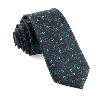 holiday string lights navy ties