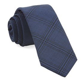 Navy Brace Plaid ties
