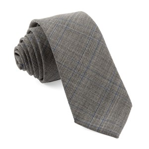 cord plaid grey ties